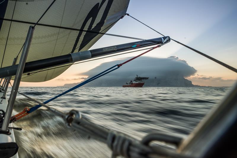 On board Team Brunel during Volvo Ocean Race Leg 1: Alicante to Lisbon - photo © Martin Keruzore / Volvo Ocean Race