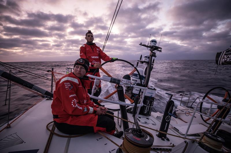 On board Vestas 11th Hour Racing during Volvo Ocean Race Leg 1: Alicante to Lisbon - photo © James Blake / Volvo Ocean Race