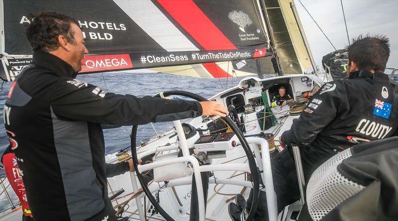 On board Sun Hung Kai/Scallywag during Volvo Ocean Race Leg 1: Alicante to Lisbon - photo © Jeremie Lecaudey / Volvo Ocean Race