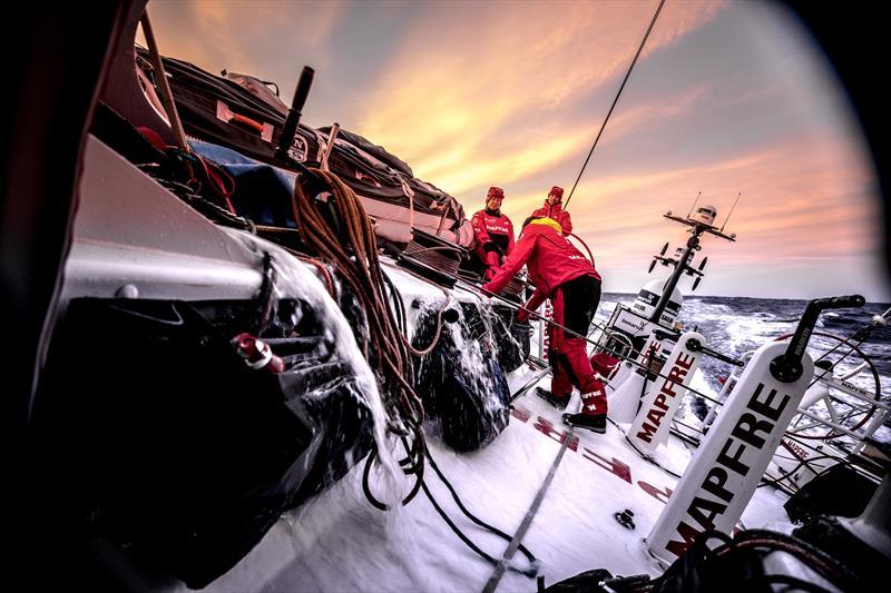 On boat MAPFRE during Volvo Ocean Race Leg 1: Alicante to Lisbon - photo © Ugo Fonolla / Volvo Ocean Race