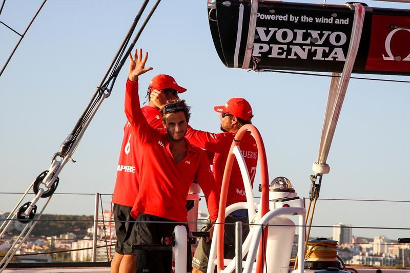 MAPFRE take second place in Leg 1 of the Volvo Ocean Race - photo © Jesus Renedo / Volvo Ocean Race