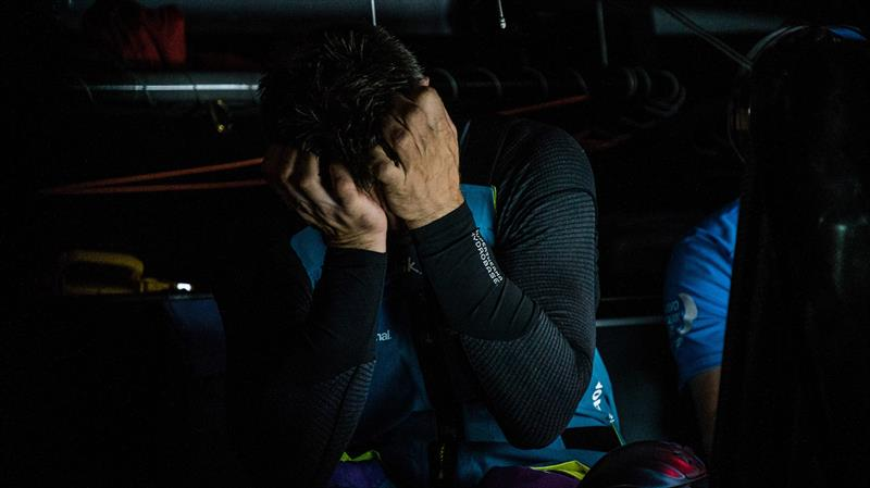 Skipper Simeon Tienpont of team AkzoNobel gets the latest position reports from Race Control - photo © Konrad Frost / Volvo Ocean Race