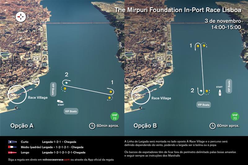 Mirpuri Foundation In-Port Race Lisbon course - photo © Volvo Ocean Race