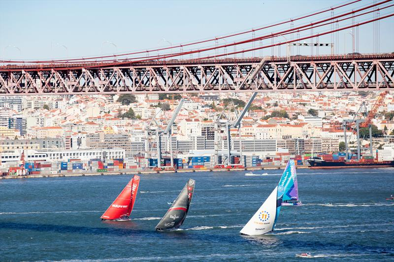 Start of Volvo Ocean Race Leg 2: Lisbon to Cape Town - photo © Maria Muina / MAPFRE