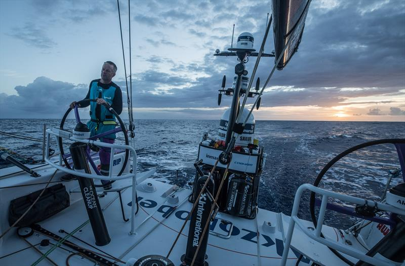 On board Team AkzoNobel during Volvo Ocean Race Leg 2: Lisbon to Cape Town - photo © James Blake / Volvo Ocean Race