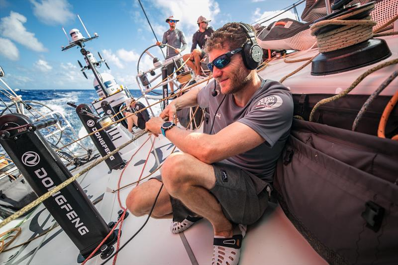 First live chat ever done between two skippers - Charles and Xavi talking to each other - Volvo Ocean Race Leg 2 - photo © Jeremie Lecaudey / Volvo Ocean Race