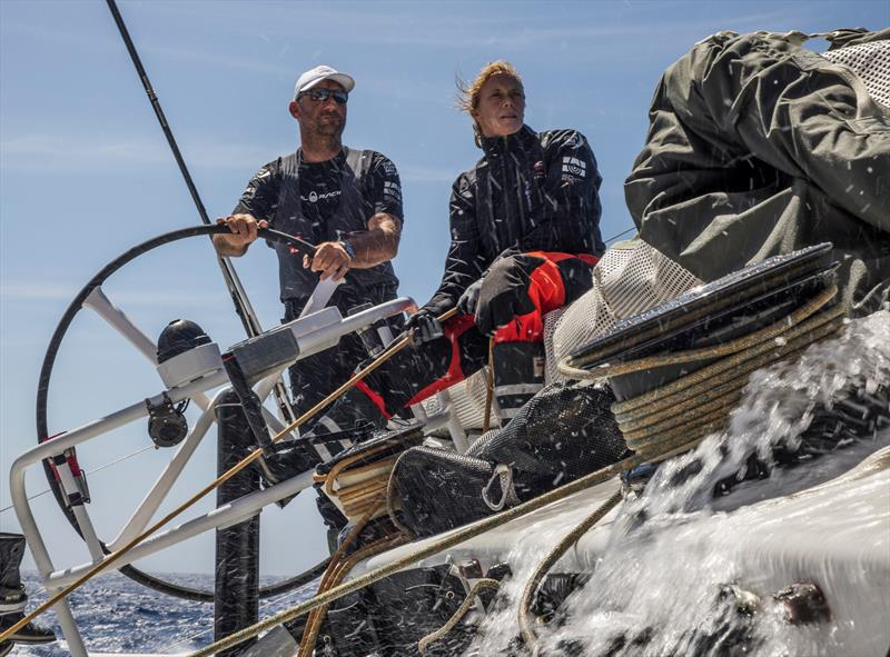 Leg 02, Lisbon to Cape Town, Day 15 David Witt and Annemieke Bes on board Sun Hung Kai / Scallywag. photo copyright Konrad Frost / Volvo Ocean Race taken at  and featuring the Volvo 70 class