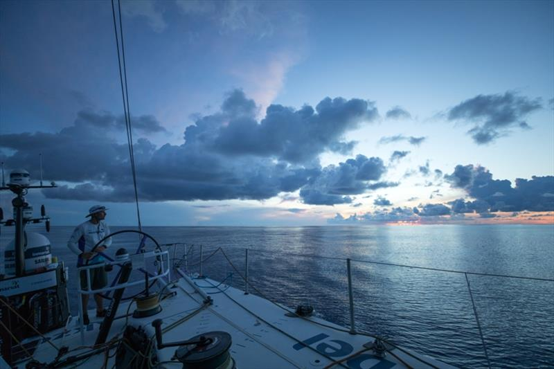 Volvo Ocean Race Leg 4, Melbourne to Hong Kong, day 09, AkzoNobel going nowhere fast in the doldrums as the entire fleet condenses. Race reset. - photo © Sam Greenfield / Volvo Ocean Race