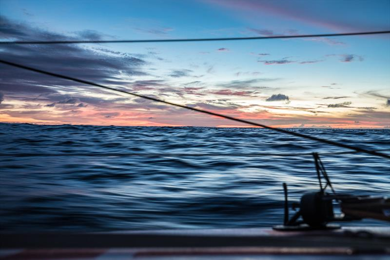 Leg 4, Melbourne to Hong Kong, day 12 on board MAPFRE, sunsets, but already in movement with the trade winds. photo copyright Ugo Fonolla / Volvo Ocean Race taken at  and featuring the Volvo One-Design class
