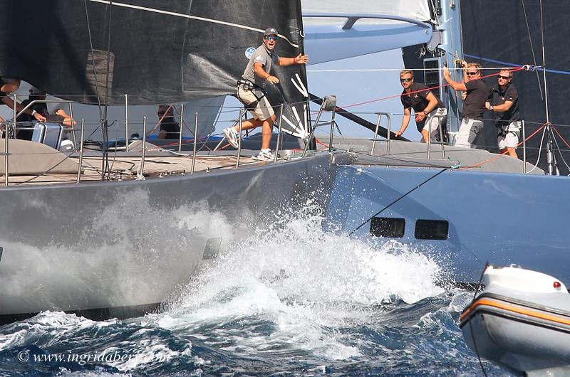The Wally 80 Tilakkhana spears Ryokan 2 at Les Voiles des St. Tropez - photo © Ingrid Abery / www.ingridabery.com