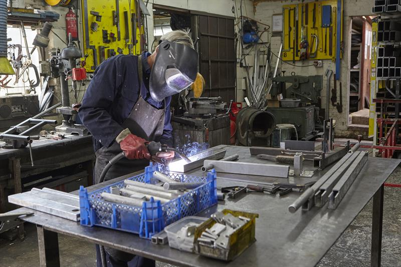 Aluminium welding at Sovereign Trailers - photo © Robert O'Neill & Pat Blake