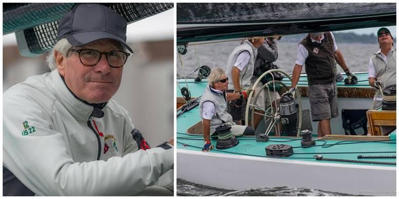 From left: Jack Curtin, owner of Intrepid (US-22) after an early practice this May in Newport and at the helm during last year's Newport Trophy.  - photo © Stephen R. Cloutier