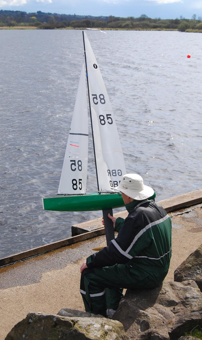 2018 Scottish District IOM Championship at Castle Semple photo copyright Lindsay Odie taken at Castle Semple Sailing Club and featuring the One Metre class