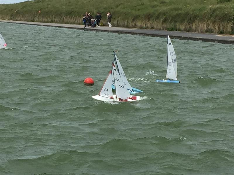 A blustery Fleetwood Lake for the One Metre class racing photo copyright John Taylor taken at Fleetwood Model Yacht Club and featuring the One Metre class