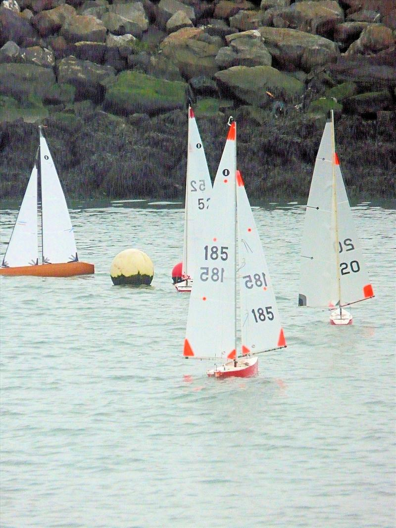 Race 7 of the Early Bird Regatta - Brian O'Neill's Swallow rounds the leeward mark in the lead photo copyright Bill Scott taken at Howth Yacht Club and featuring the One Metre class