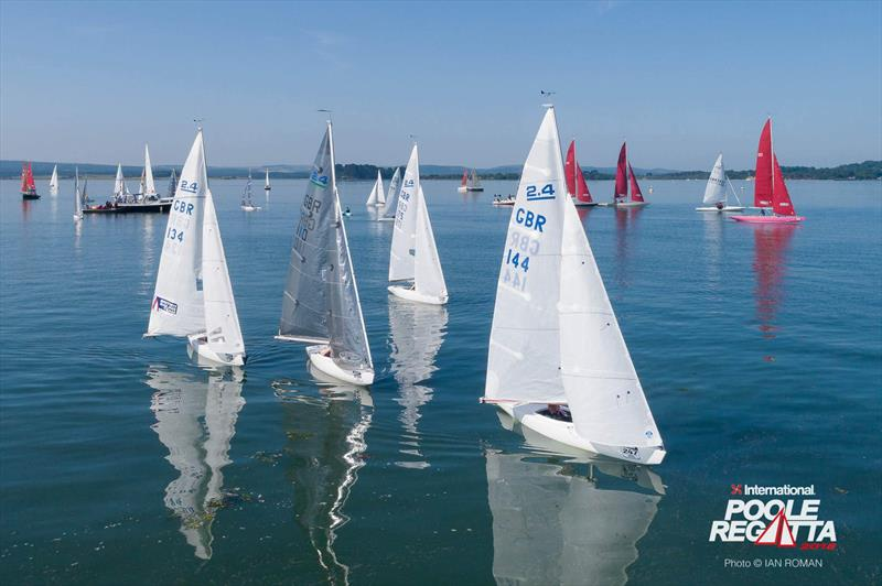 2.4mRs in the harbour during the International Paint Poole Regatta 2018 - photo © Ian Roman / International Paint Poole Regatta