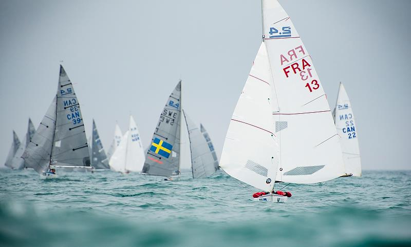 Damien Seguin (FRA)- 2.4mtr - Day 3 - Para Sailing World Championship, Sheboygan, Wisconsin, USA.  - photo © Cate Brown
