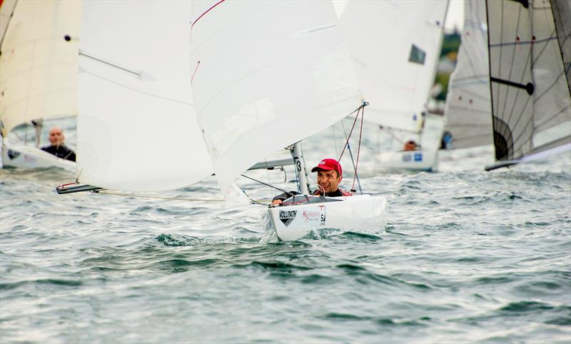 Matt Bugg is pursuit of a Finnish sailor in the 2.4mR class - 2018 Para World Sailing Championships - photo © Cate Brown