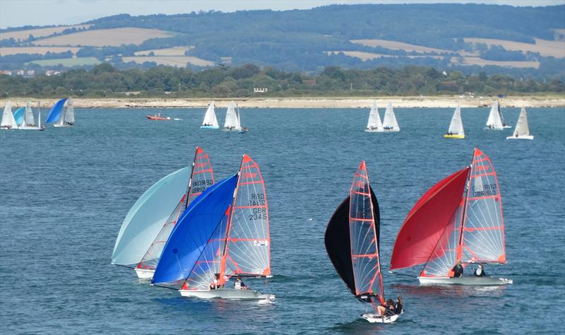 Close racing for the 29ers during Chichester Harbour Race Week - photo © Liz Sagues