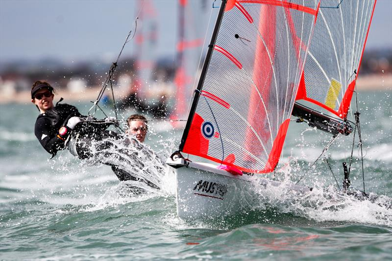 Girls 29er Gold for Bella Fellows & Anna Sturrock at the RYA Youth Nationals - photo © Paul Wyeth / RYA