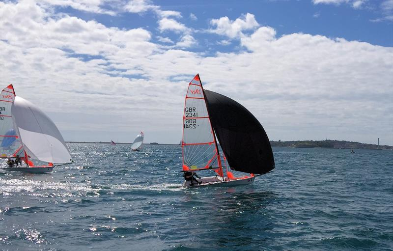 Crews' race winners on day 4 of the Zhik 29er Nationals at the WPNSA - photo © Sue Ormerod
