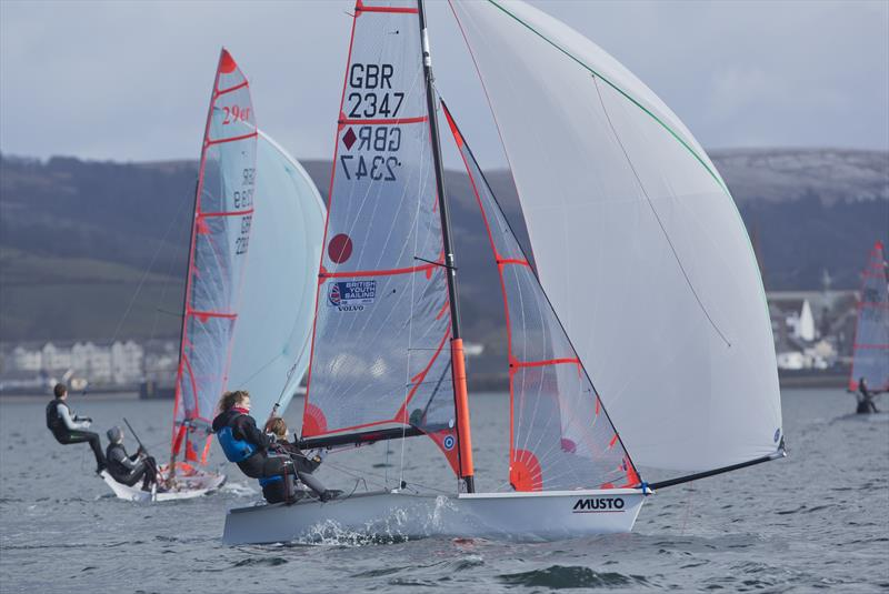 29ers during the 2017 RYA Youth Nationals in Largs - photo © Marc Turner / RYA