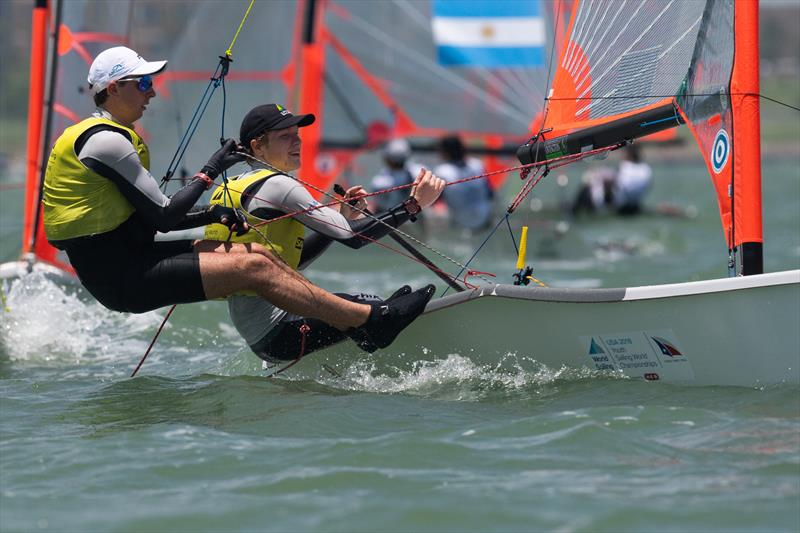 Mens 29er - Day 3 of the Youth Sailing World Championships in Corpus Christi, Texas - photo © Jen Edney / World Sailing