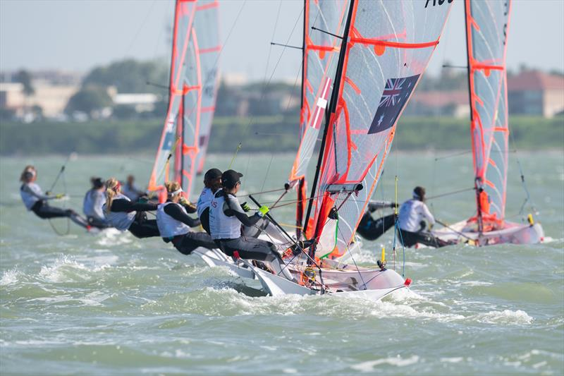 Womens 29er - Day 3 of the Youth Sailing World Championships in Corpus Christi, Texas - photo © Jen Edney / World Sailing