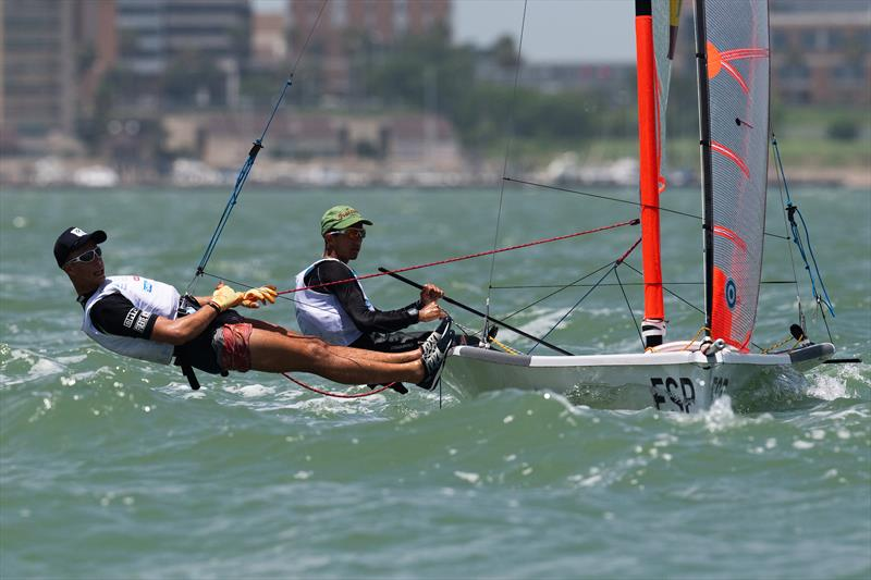 Spain Mens 29er - Day 3 of the Youth Sailing World Championships in Corpus Christi, Texas - photo © Jen Edney / World Sailing