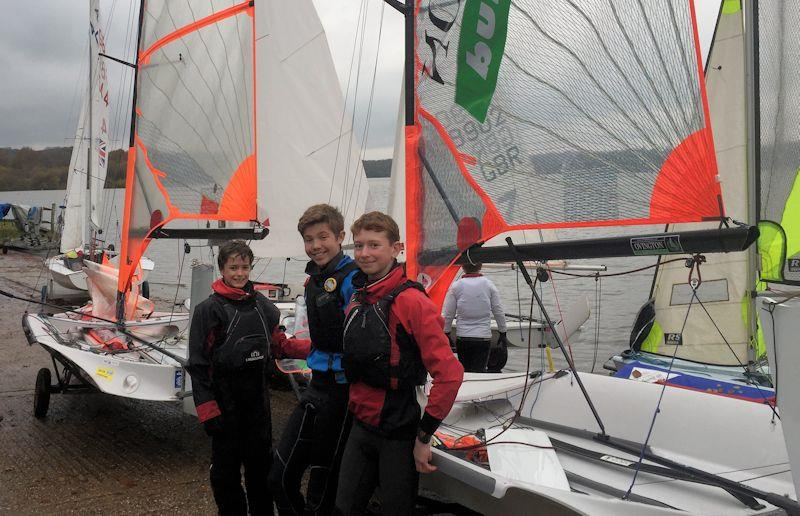 Youth and Junior Race Coaching at Weir Wood photo copyright Christopher Hopkins taken at Weir Wood Sailing Club and featuring the 29er class