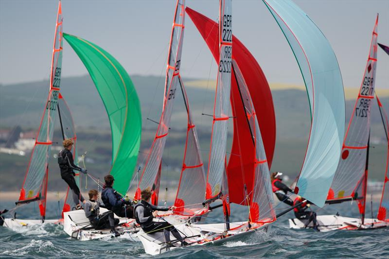 29ers on day 4 of the RYA Youth National Championships - photo © Paul Wyeth / RYA