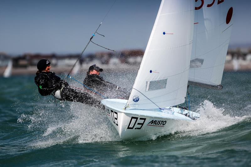 Katie Davies and Midge Watkins on day 3 of the RYA Youth Nationals photo copyright Paul Wyeth / RYA taken at Hayling Island Sailing Club and featuring the 420 class