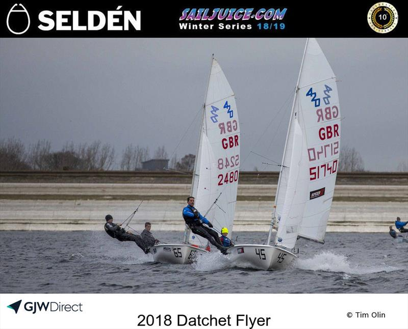 420s during the Datchet Flyer - Selden SailJuice Winter Series Round 2 - photo © Tim Olin / www.olinphoto.co.uk