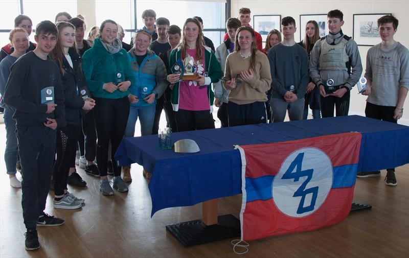 Prize winners in the 420 Spring Championship at the WPNSA photo copyright Richard Sturt taken at Weymouth & Portland Sailing Academy and featuring the 420 class