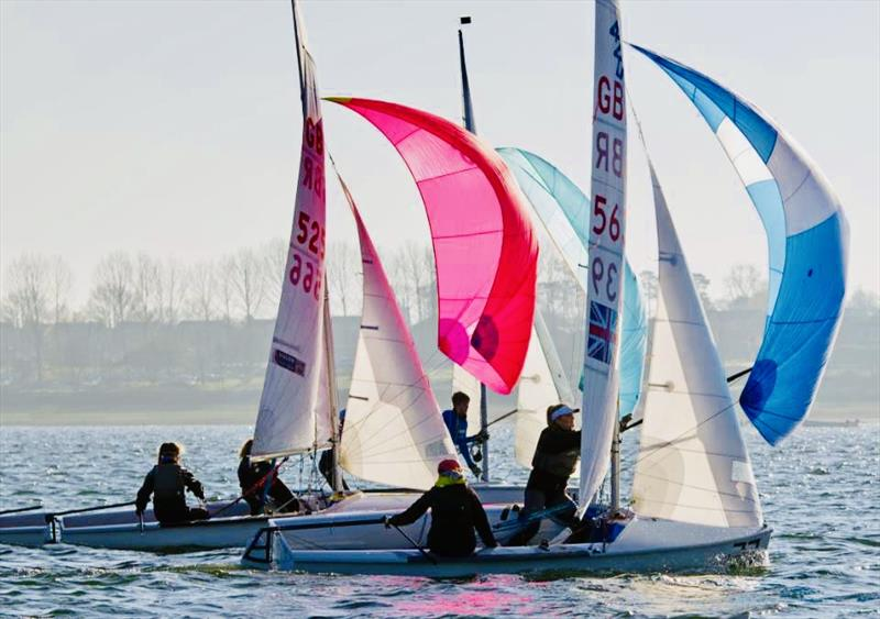 The 420 class are preparing for their nationals at Hayling Island - photo © Jennie Clark