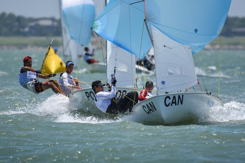 Mens 420 - Day 3 of the Youth Sailing World Championships in Corpus Christi, Texas - photo © James Tomlinson / / World Sailing