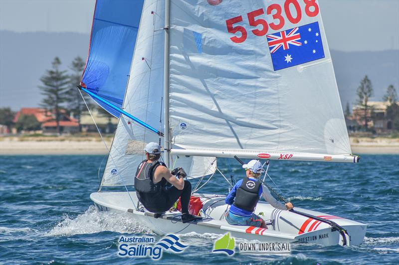 Quinn Auricht and Lachlan Nairn in the 420 fleet last year - South Australian Youth Championships - photo © Harry Fisher