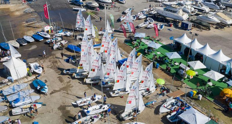 Waiting for wind on day 5 at the 420 World Championship - photo © Osga - João Ferreira