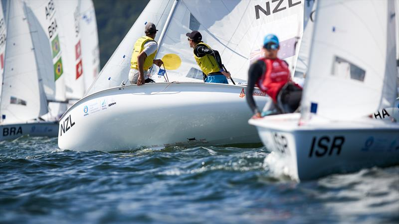 Seb Menzies and Blake McGlashan (NZL) - 420 - Day 5 2019 Hempel Youth Sailing World Championships, Gdynia, Poland - photo © Jacek Kwiatkowski / World Sailing