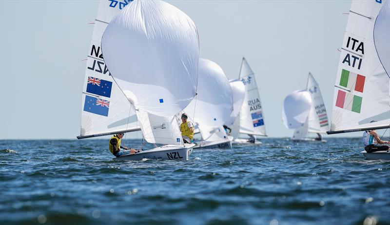 Seb Menzies and Blake McGlashan (NZL) - Day 5 - 420 - 2019 Hempel Youth Sailing World Championships, Gdynia, Poland - photo © Jacek Kwiatkowski / World Sailing