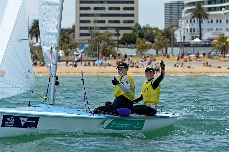 Carrie Smith & Jamie Ryan take gold on final day of ISAF Sailing World Cup Melbourne - photo © Sport the library / Jeff Crow