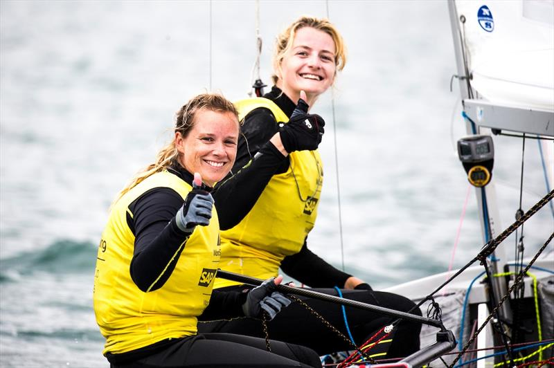 470 Women's Gold for Hannah Mills-Eilidh McIntyre at the World Cup Series Final in Santander - photo © Pedro Martinez / Sailing Energy / World Sailing