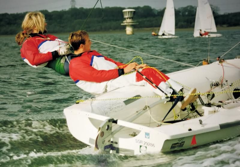 Ian Walker and Gareth Edwards 470 sailing in 1991 - photo © Walker Archive