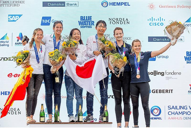 470 Women - Day 8 - Hempel Sailing World Championships, Aarhus, Denmark - August 2018 photo copyright Sailing Energy / World Sailing taken at  and featuring the 470 class