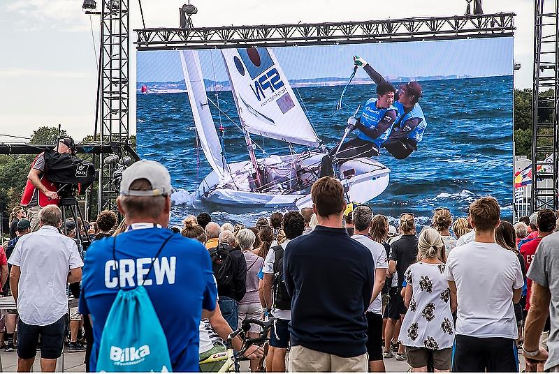 470 - Day 8 - Hempel Sailing World Championships, Aarhus, Denmark - August 2018 photo copyright Sailing Energy / World Sailing taken at  and featuring the 470 class