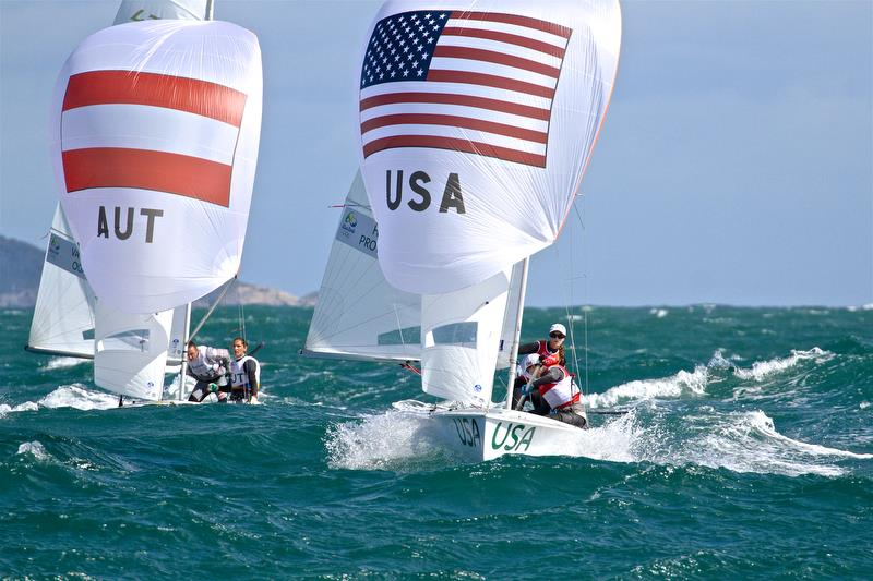 The 470 is the only current Olympic equipment equal for both Mens and Women. World Sailing have merged them into a Mixed event and may not reselect the 470 - Rio Olympic Regatta 2016 - photo © Richard Gladwell