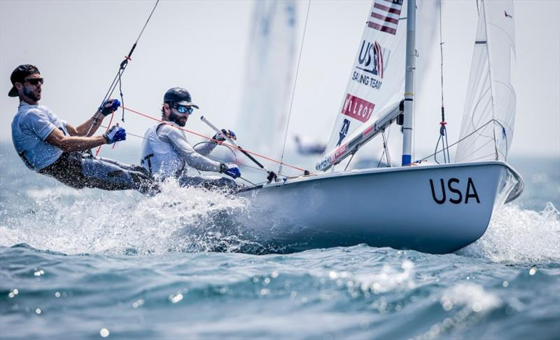 U.S. Men's 470, Stu McNay and Dave Hughes - Ready Steady Tokyo, day 4 photo copyright US Sailing taken at  and featuring the 470 class