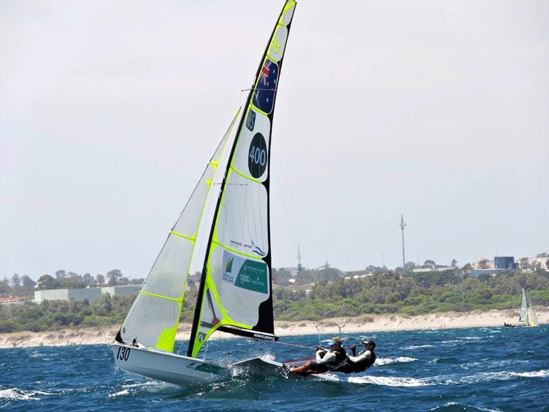 Joel Turner and Lewis Brake win the 2014-15 Zhik Australian 49er Championships - photo © Australian Sailing Team
