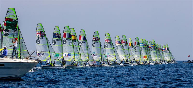 49er fleet - World Cup Series Hyères -Day 3 - photo © Jesus Renedo / Sailing Energy
