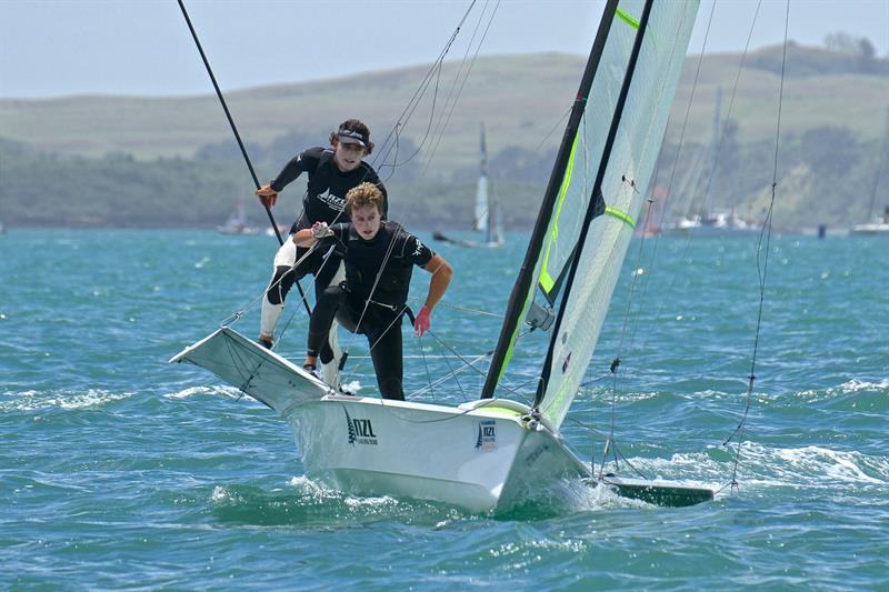 Joseph Porebski and Trent Rippey (49er) - Oceanbridge NZL Sailing Regatta - Day 2 - February 2 - photo © Richard Gladwell
